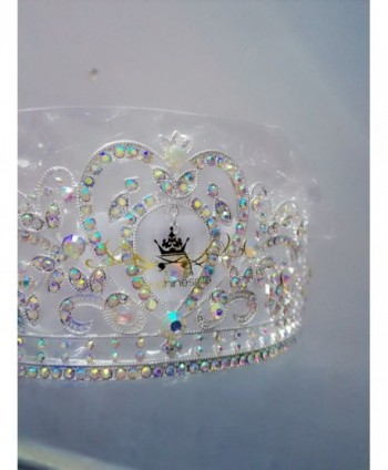 "Sunshinesmile Colorful Clear Austrian Rhinestone Crystal Tiara Crown- 6"" Diameter - CM11ZDWUYV7"