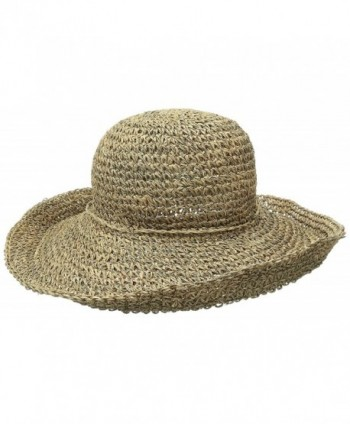 Scala Women's Crocheted Seagrass Hat With Self Trim - Natural - CX11JI5EGY1