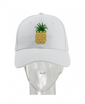 83ef957362f24 melitop005 Pineapple Dad Hat Baseball Cap Sun Cap Cotten Snapback  Adjustable Outdoor Sports Cap - White  melitop005 Pineapple Baseball Quick  Drying ...