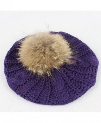Winter Slouchy Beanies Raccoon Pompoms