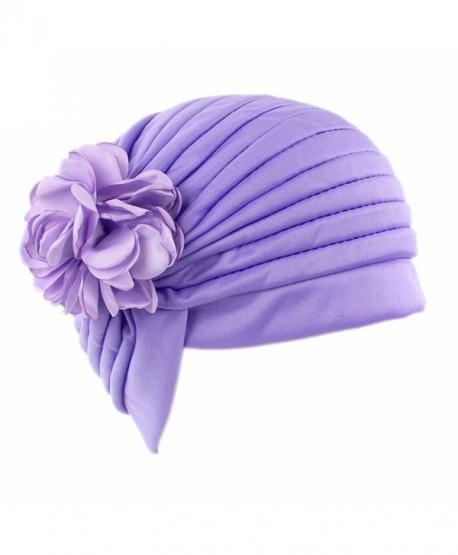 Raylans Women Fashion Shiny Turban Hat Beanie Chemo Cap Head Cover - 1 - CN17XXIOUD3