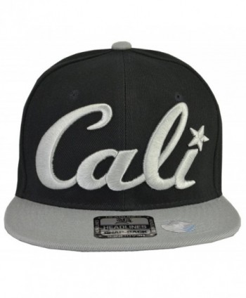 Cali Hats - California Embroidered Cap (7 Styles & Colors) - Cali Black Hat Grey Brim Grey Embroidered - CC11M0RGH91