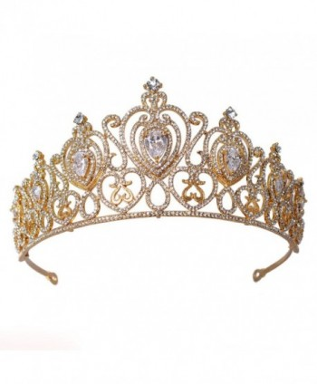 FF Wedding Crown for Brides Crystal Bridal Tiara - C312O9XDXE0