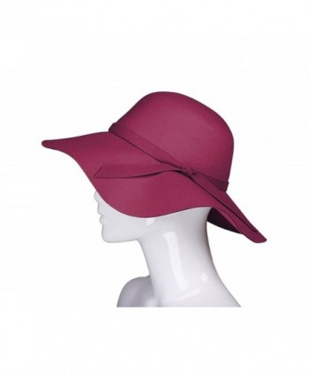 ADAMARIS Wide Large Brim Sun Protection Spring Bowknot Hat For Women - 304-wine Red - CU184OZ6NEO