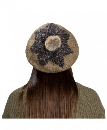 Aerusi Ladies Classic Knitted Braided in Women's Berets