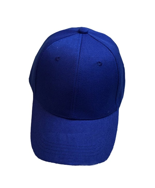 Baseball Cap Blank Solid Color Velcro Closure Adjustable Plain Hat (All Color) - Loyal Blue - CP12IR0LHXZ