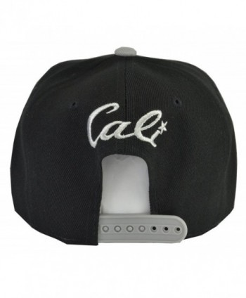 Cali Black Grey Brim Embroidered