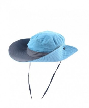 Meccion Sun Hat For Women UPF 50+ Wide Brim Breathable Summer Sun Protection Hat - Blue - CV18599GM6Q