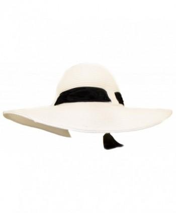 White Ladies Hat Black Design