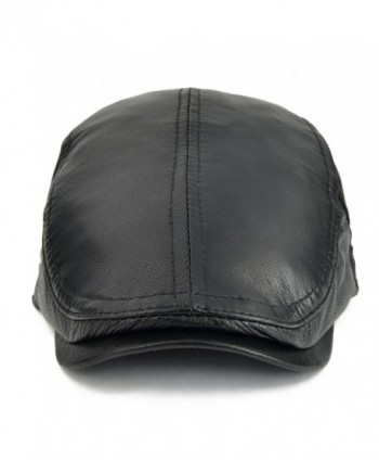 VOBOOM Adjustable Genuine Leather Newsboy in Men's Newsboy Caps
