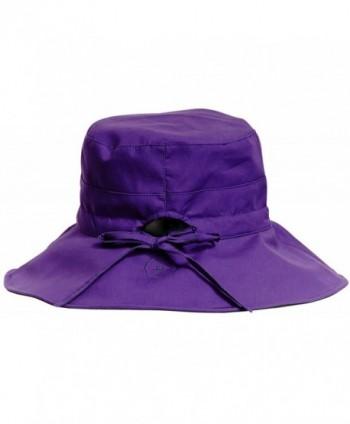 Solbari Womens Reversible Inches Purple in Women's Sun Hats