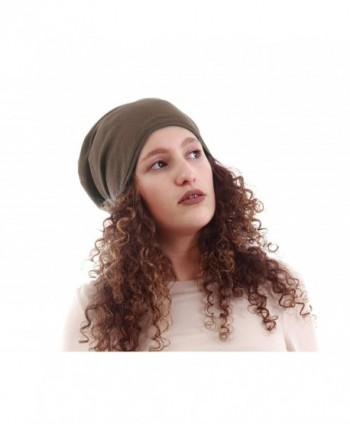 "Satin Lined Beanie Mocha Jersey Cap Unisex (Adult size 20-22"" / 51-56cm around the head) - C712JREZ9RZ"