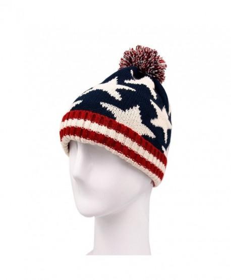 TrendsBlue Premium Unisex Warm Knit USA American Flag Style Beanie Hat- Diff Designs - V1 - CA11INMU7OX