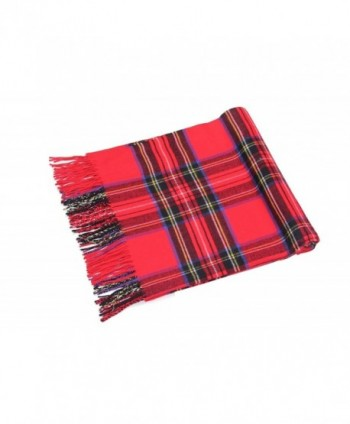 Oversized Scottish Tartan Cashmere Winter in Cold Weather Scarves & Wraps
