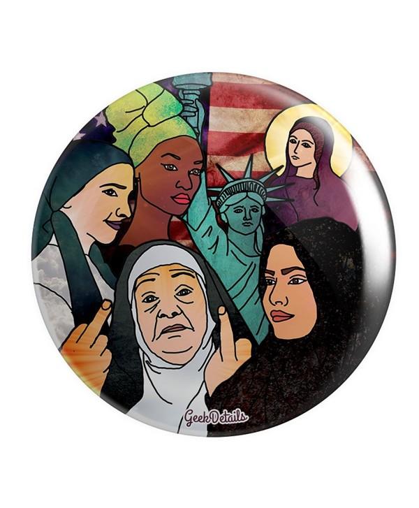 """Geek Details Pro America 2.25"""" Pinback Button - American Women in Headscarves - CL12O7Y1M8W"""
