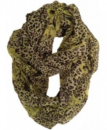 Haddad International Women's Tru Fit Infinity Scarf - Lime Leopard - CU11K794F3J