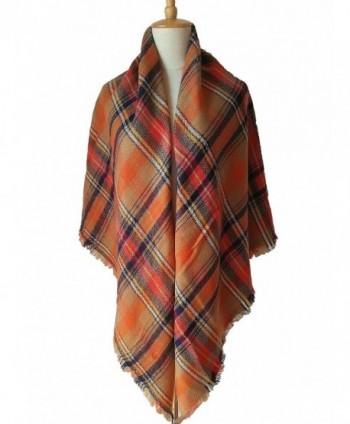 ZOMOY Womens Tartan Blanket Lattice