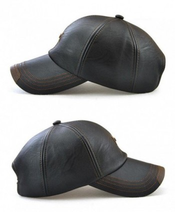 Roffatide Leather Baseball Strapback Autumn in Men's Baseball Caps