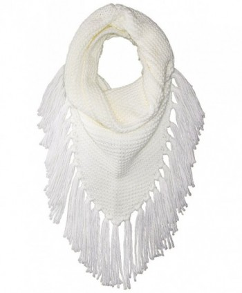 Steve Madden Women's Triangle Snood W Fringe - Ivory - CL183OAY6WC