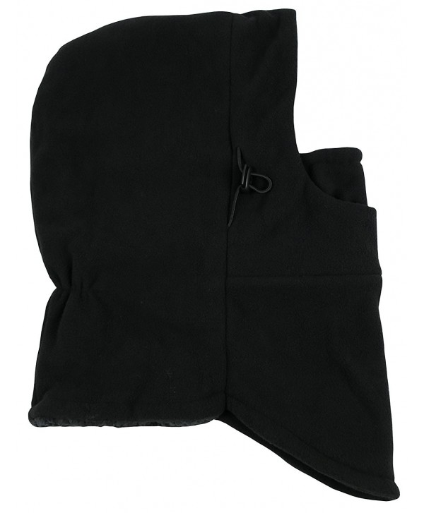 N'Ice Caps Adults Unisex Sherpa Lined Multi Layered Fleece Balaclava Face Mask - Black - C9186SW9H7Z