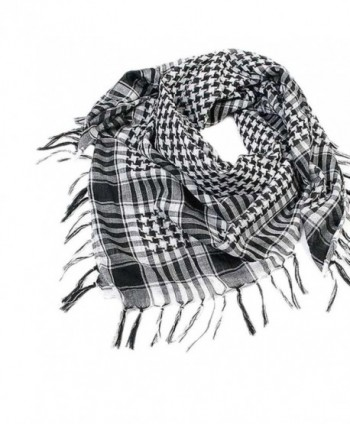 Staron Unisex Women Men Soft Arab Scarf Shemagh Keffiyeh Palestine Shawl Wrap - Black B - CF1875DU9IN