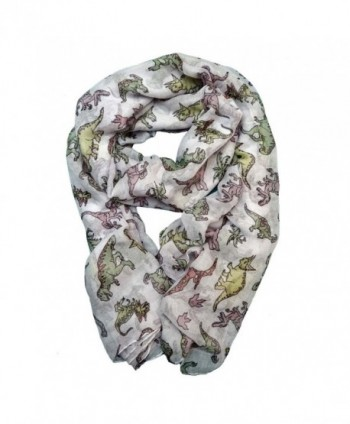 Dinosaur Scarf Gift for Women and Girls - Easter Basket Stuffer Idea - C912MY2MRPX