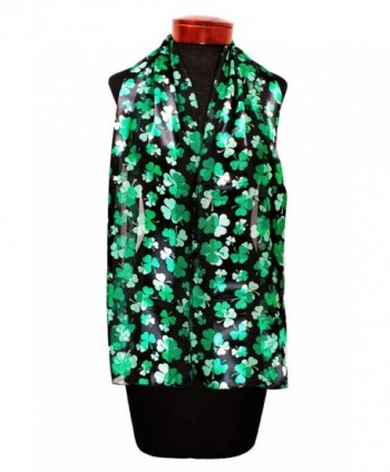 St.patrick's Shamrock Scarf One Size St. Patrick Design w/ Gift Pack By Knitting Factory - Black-os3012 - CR180233TD3