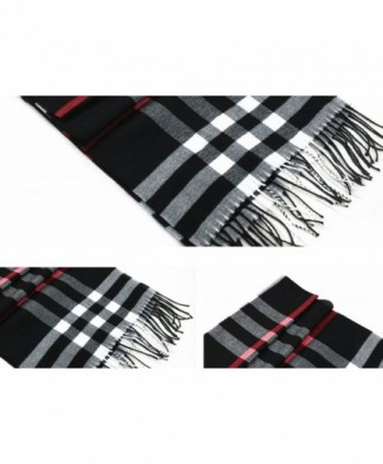 Classic Plaid Scarf Shawl Accessory Trendy Popular Warm Winter Coat Sweater Accent - Blue - CY11POM3I6T