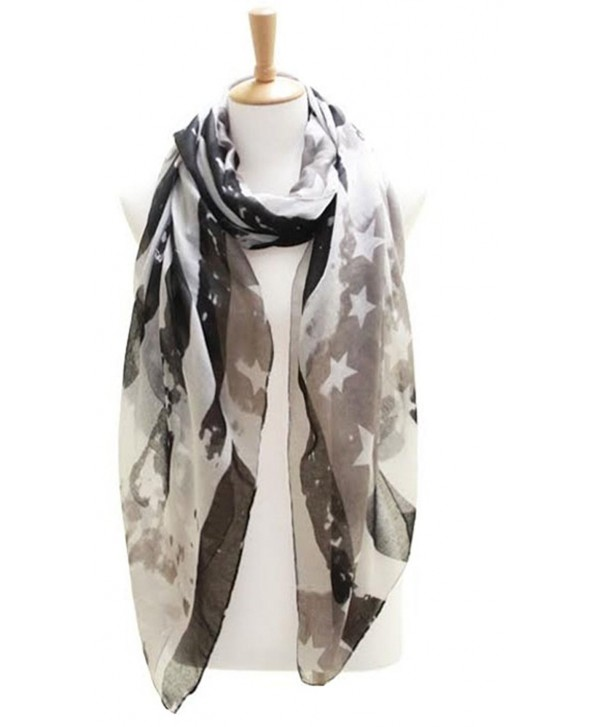 Knitting Factory Women's USA Flag Theme Vintage Kimono Shawl Selection - SCARF LOF082BK - CF12J11XXIL