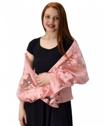 Peach Couture Embroidered Bohemian Lightweight in Fashion Scarves