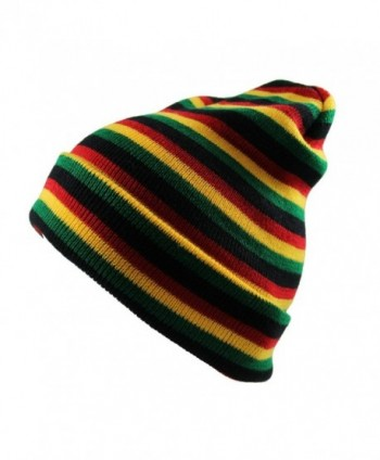 Men's Rasta Multi Long Beanie - C312291MQQZ