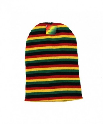 Mens Rasta Multi Long Beanie