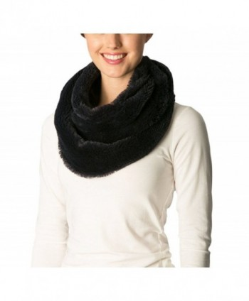 Apparelism Women's Warm Winter Soft Faux Fur Loop Infinity Neck Warmer Scarf - A.navy - CJ186IQO435