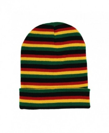 Mens Rasta Multi Long Beanie in Men's Skullies & Beanies