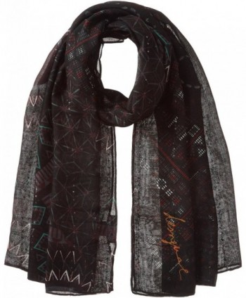 Desigual Women's Noa Rectangle Foulard Scarf - Black - CU17YOZGYMR