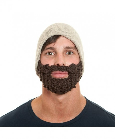 The Original Beard Beanie- Beard Hat- Made in the USA Eco Friendly - Tan - CU116R9UJS3