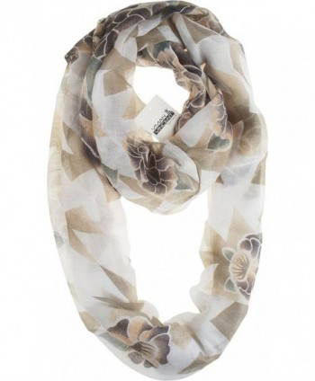 Vivian & Vincent Soft Light Elegant Sheer Infinity Scarf - C4 - CJ186X8HGDM
