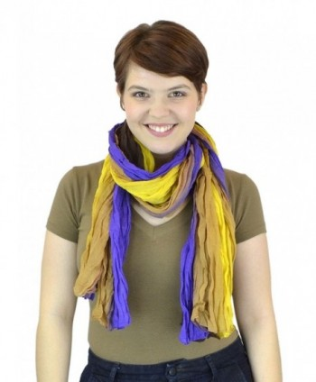 Belle Donne - Women's Cozy Scarf - Mix of Elegant Styles - Light Weight Scarves Shawls Wraps - Yellow-purple - CQ11L7JTC6D
