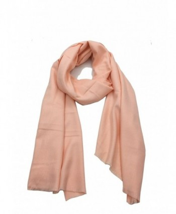 Tudelan Men and Women Classic Cashmere Scarves with Tassels Christmas Red Scarf - Pink - C6188QHZ99M