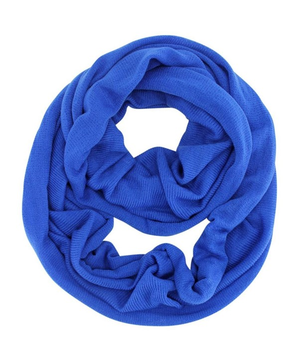 Classic Knit Winter Unisex Infinity Scarf - Blue - C211HRPRSGR