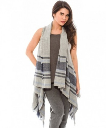 Women's Fashion Wrap Sleeveless Shawl Vest Hem Wrap Front Open Cardigan - CO17YQOREA5
