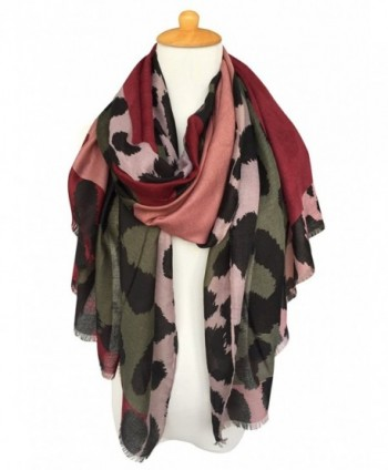 GERINLY Womens Scarves Colorful Leopard