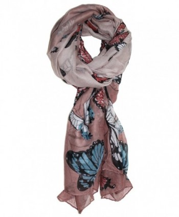 Ted and Jack - Exotic Ombre Butterflies Print Scarf - Beige - CR186N4EW4I