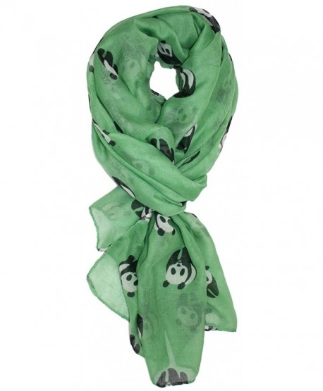 Ted and Jack - Save The Panda Whimsical Print Scarf - Grass Green - CO1262UIR3F