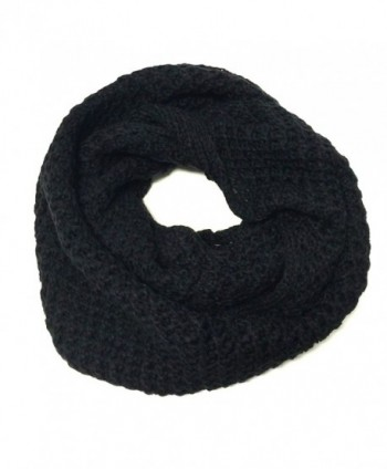 Wrapables Soft Knit Warm Infinity Scarf- Jet Black - CN11RS8XB2X