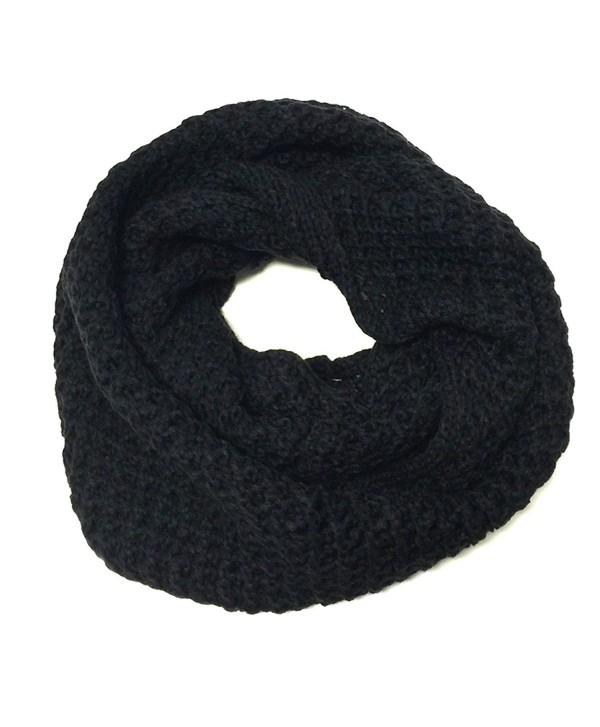 Wrapables Soft Knit Warm Infinity Scarf- Jet Black - CN11RS8XB2X
