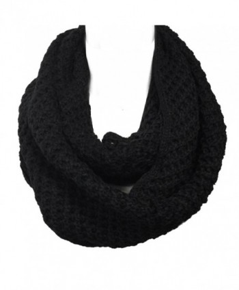Wrapables Soft Infinity Scarf Black in Cold Weather Scarves & Wraps