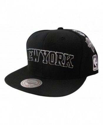 Mitchell & Ness Men's New York Knicks Team Logo History Adjustable Snapback Hat - Black - CE12N707UEA