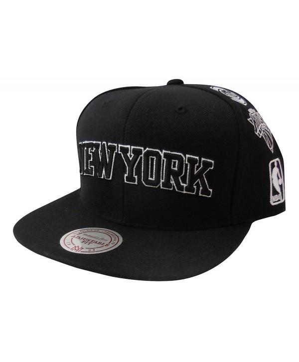 Mitchell & Ness Men's New York Knicks Team Logo History Adjustable Snapback Hat - Black - CE12N707UEA