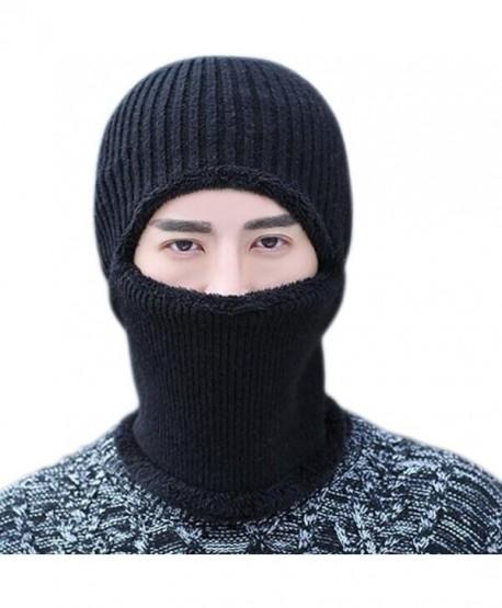 JOYEBUY Warm Knitted Balaclava Beanie Hat Windproof Ski Face Mask Winter Hats - Black - CQ187GQTHLT